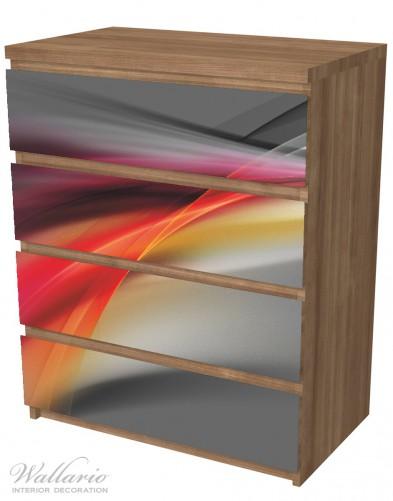 Möbelfolie Schwarz rot pink - Abstraktes Design – Bild 6