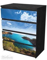 Möbelfolie Ibiza - Blick von einer Bucht aufs Meer – Bild 4