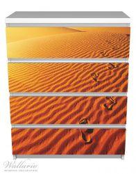 Möbelfolie Fußspuren im Sand - Sanddüne in der Wüste – Bild 2