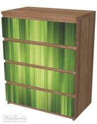 Möbelfolie Grün und schwarz gestreift - Abstraktes Streifenmuster – Bild 6