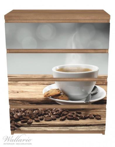 Möbelfolie Heiße Tasse Kaffee mit Kaffeebohnen – Bild 3