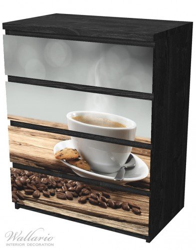 Möbelfolie Heiße Tasse Kaffee mit Kaffeebohnen – Bild 4