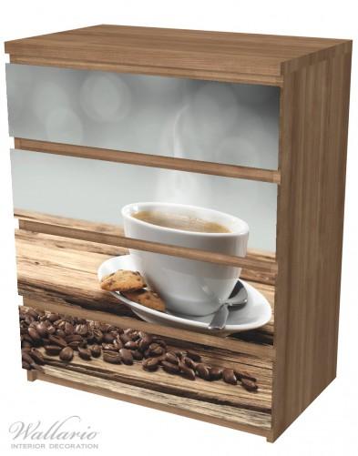Möbelfolie Heiße Tasse Kaffee mit Kaffeebohnen – Bild 6