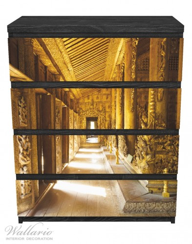 Möbelfolie Buddhistischer Tempel aus Holz - Mandaley – Bild 1