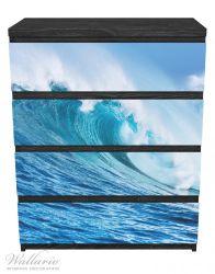 Möbelfolie Eindrucksvolle Welle im Ozean – Bild 1