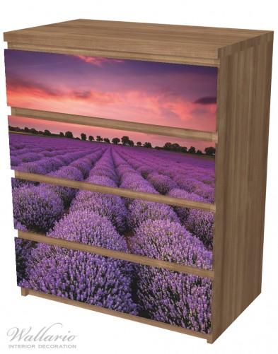 Möbelfolie Lavendelfeld unter rotem Himmel – Bild 6