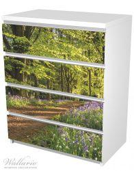 Möbelfolie Blaues Hasenglöckchen im Sommerwald – Bild 5