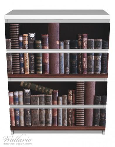 Möbelfolie Bücherregal mit alten Büchern – Bild 2