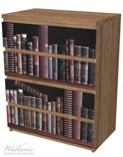 Möbelfolie Bücherregal mit alten Büchern – Bild 6
