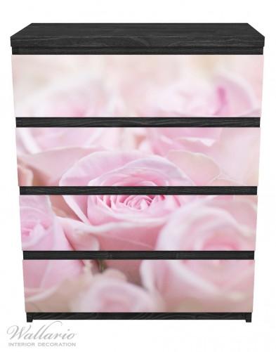 Möbelfolie Rosafarbene Rosenblüten im Strauß – Bild 1