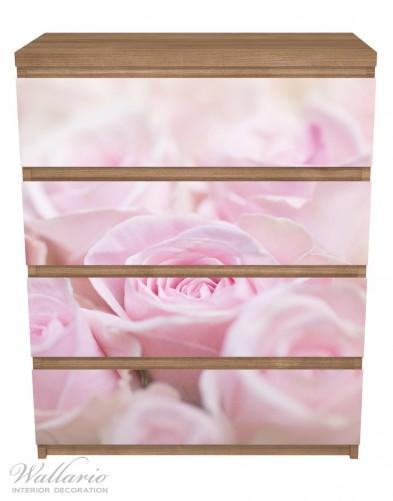 Möbelfolie Rosafarbene Rosenblüten im Strauß – Bild 3