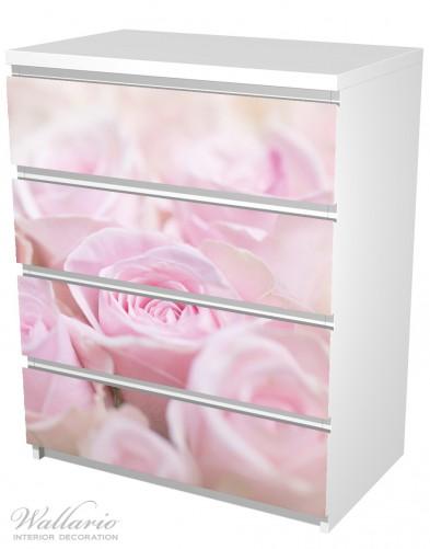 Möbelfolie Rosafarbene Rosenblüten im Strauß – Bild 5