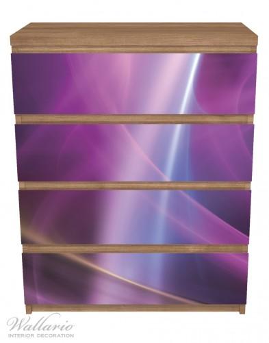 Möbelfolie Abstraktes Muster in violett lila pink schwarz – Bild 3