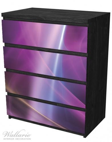 Möbelfolie Abstraktes Muster in violett lila pink schwarz – Bild 4
