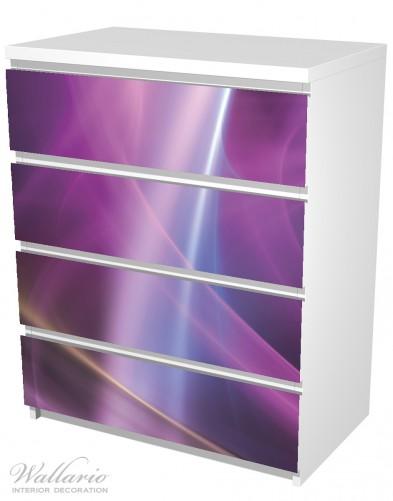 Möbelfolie Abstraktes Muster in violett lila pink schwarz – Bild 5