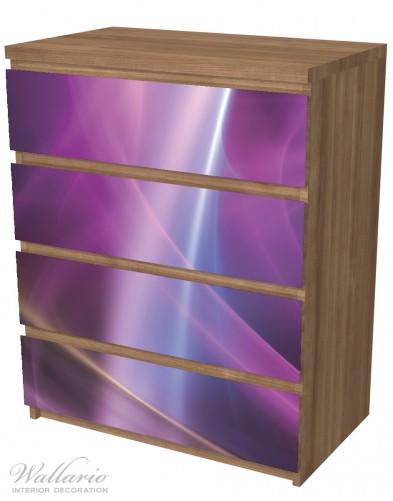 Möbelfolie Abstraktes Muster in violett lila pink schwarz – Bild 6