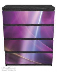 Möbelfolie Abstraktes Muster in violett lila pink schwarz – Bild 1