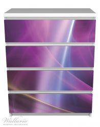 Möbelfolie Abstraktes Muster in violett lila pink schwarz – Bild 2