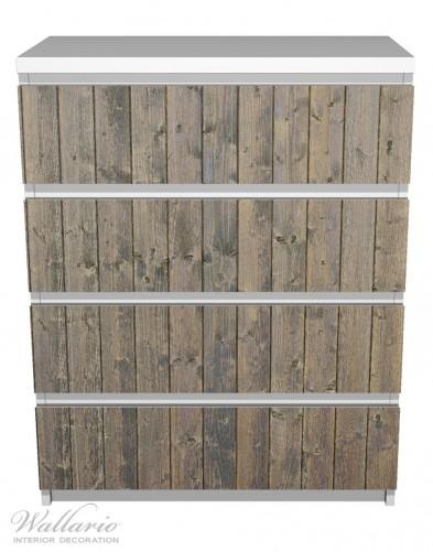 Möbelfolie Holzpaneelen in grau braun - Holzmuster mit Maserung – Bild 2