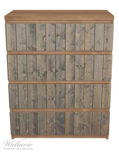 Möbelfolie Holzpaneelen in grau braun - Holzmuster mit Maserung – Bild 3
