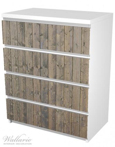 Möbelfolie Holzpaneelen in grau braun - Holzmuster mit Maserung – Bild 5
