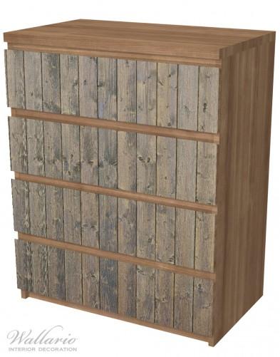 Möbelfolie Holzpaneelen in grau braun - Holzmuster mit Maserung – Bild 6