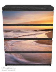 Möbelfolie Sonnenuntergang am Strand - Abendspaziergang – Bild 1