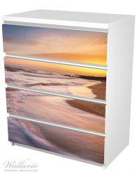 Möbelfolie Sonnenuntergang am Strand - Abendspaziergang – Bild 5