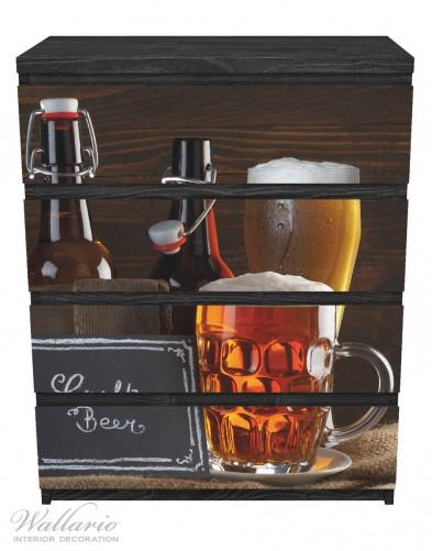 Möbelfolie Biervarianten - Pils im Glas, Flaschenbier, Schild Craft Beer – Bild 1