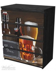 Möbelfolie Biervarianten - Pils im Glas, Flaschenbier, Schild Craft Beer – Bild 4