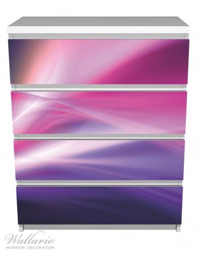 Möbelfolie Abstrakte Formen und Linien in pink lila – Bild 2