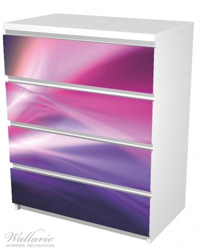 Möbelfolie Abstrakte Formen und Linien in pink lila – Bild 5