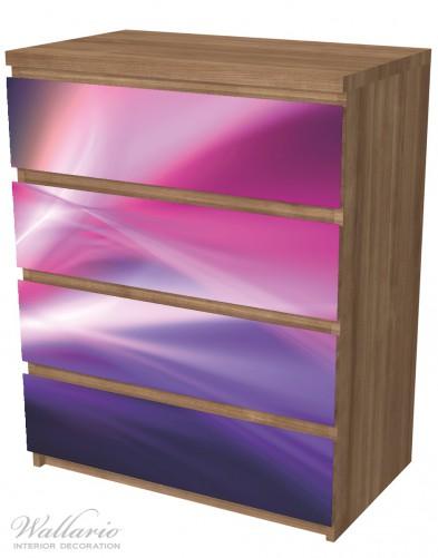 Möbelfolie Abstrakte Formen und Linien in pink lila – Bild 6