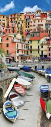 Poster Bunter Hafen in Italien