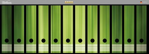 Ordnerrücken Sticker Grün und schwarz gestreift - Abstraktes Streifenmuster
