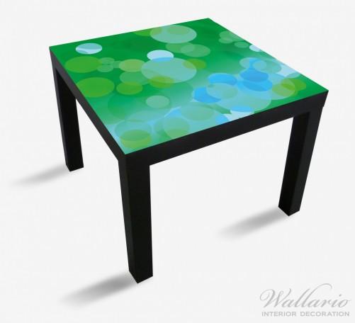 Möbelfolie Grüne und blaue Kreise - harmonisches Muster – Bild 1