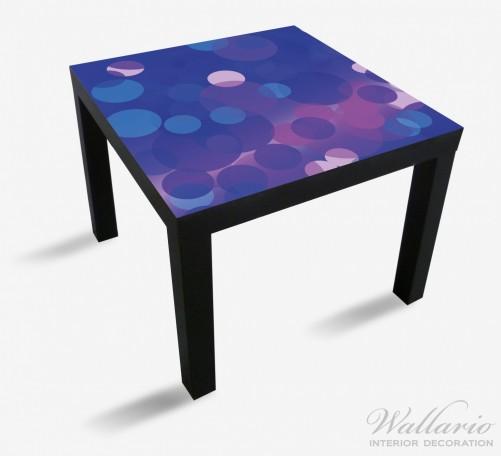 Möbelfolie Blaue Kreise mit pink - harmonisches Muster – Bild 1