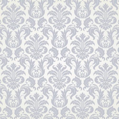 Möbelfolie Königliche Schnörkelei in weiß und blaugrau – Bild 3