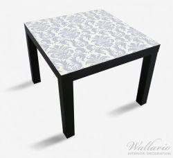 Möbelfolie Königliche Schnörkelei in weiß und blaugrau – Bild 1