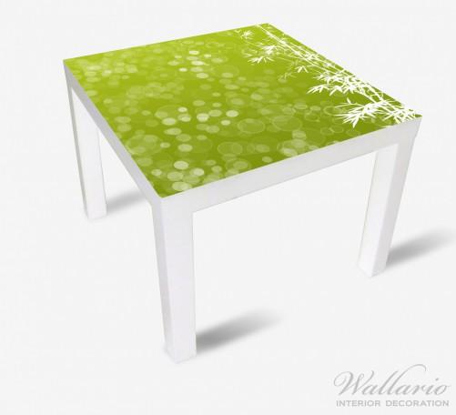 Möbelfolie Bambusmuster grün-weiß – Bild 2