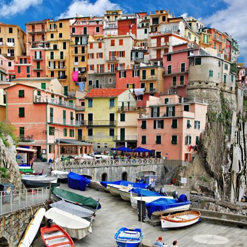 Möbelfolie Bunter Hafen in Italien – Bild 3