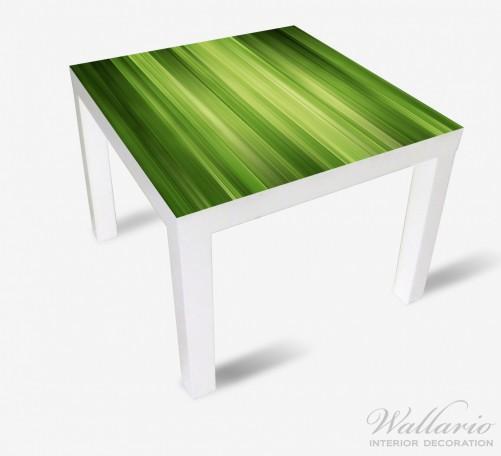 Möbelfolie Grün und schwarz gestreift - Abstraktes Streifenmuster – Bild 2
