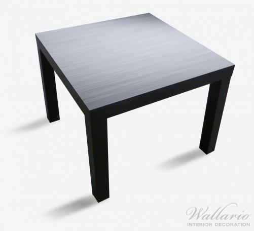 Möbelfolie Aluminium-Optik Metall-Optik Streifen – Bild 1