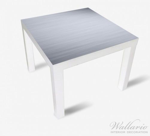 Möbelfolie Aluminium-Optik Metall-Optik Streifen – Bild 2