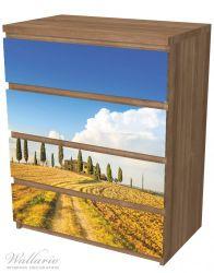 Möbelfolie Italien - Toskana unter blauem Himmel, einsame Farm – Bild 6