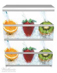 Möbelfolie Frische Früchte übergossen mit Wasser – Bild 2
