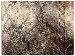 Glasunterlage Schnörkelmuster in dunkelbraun – Bild 1