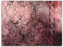 Glasunterlage Schnörkelmuster in rot – Bild 1