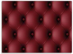 Glasunterlage Rote Ledertür – Bild 1