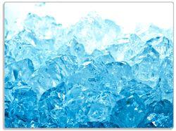 Glasunterlage Leuchtendes Eis in blau – Bild 1